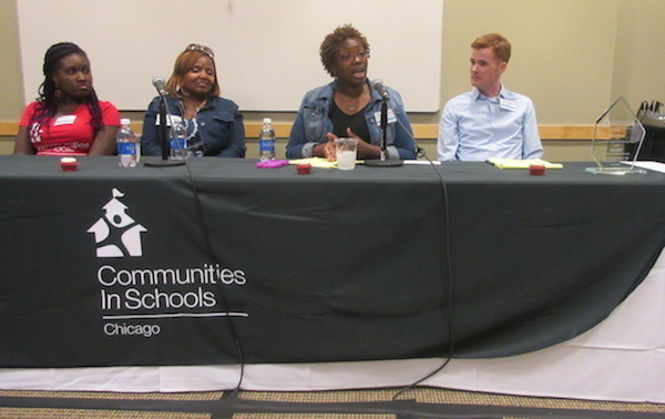 HEART's Chicago Program Coordinator Mickey Kudia went on to participated in a panel discussion.